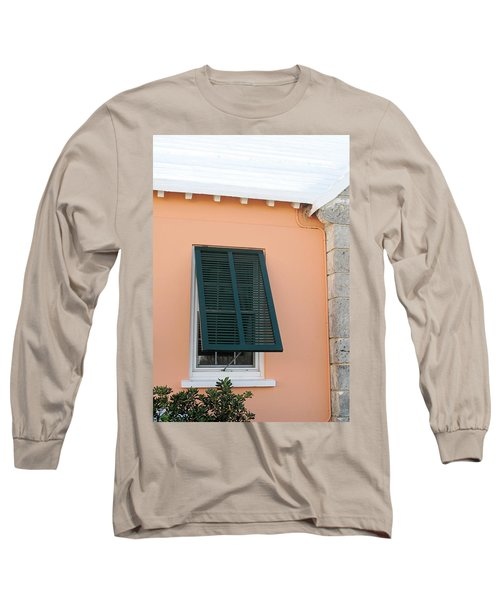 Bermuda Shutters Long Sleeve T-Shirt by Ian  MacDonald