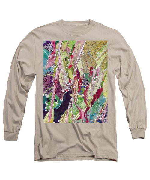 Berries And Cactus Long Sleeve T-Shirt