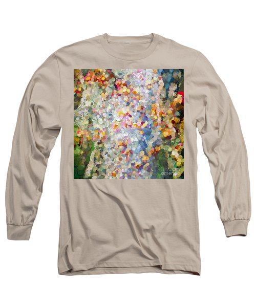 Berries Around The Tree - Abstract Art Long Sleeve T-Shirt