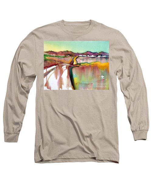 Long Sleeve T-Shirt featuring the painting Bethel Road by Teresa Ascone