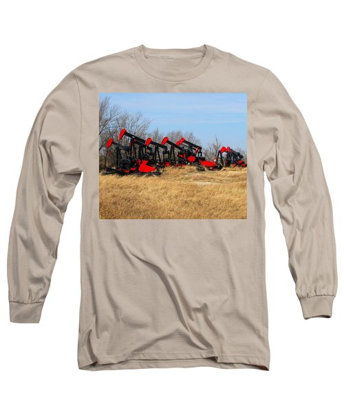 Bethlehem Pump Jacks Long Sleeve T-Shirt by Keith Stokes