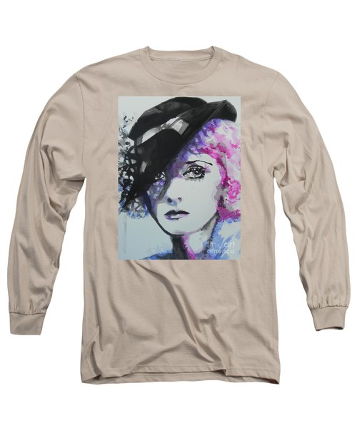 Bette Davis 02 Long Sleeve T-Shirt by Chrisann Ellis
