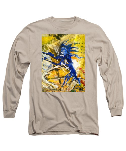 Long Sleeve T-Shirt featuring the painting Beyond Boundaries by Kicking Bear  Productions