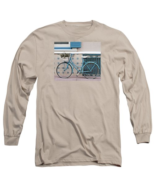 Vintage Bicycle Photography - Bicycles Are Not Only For Summer Long Sleeve T-Shirt
