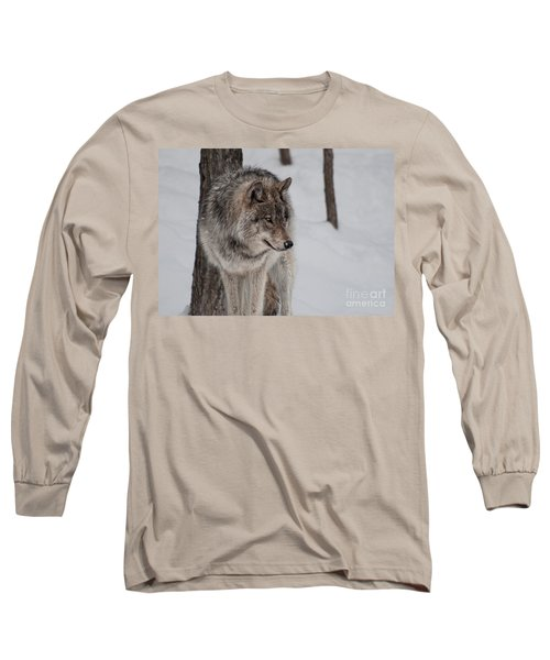 Big Bad Wolf Long Sleeve T-Shirt by Bianca Nadeau