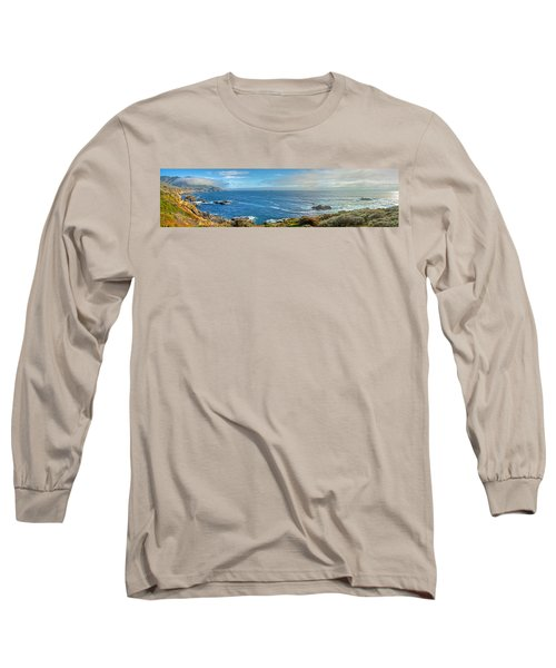 Big Sur Coast Pano 2 Long Sleeve T-Shirt