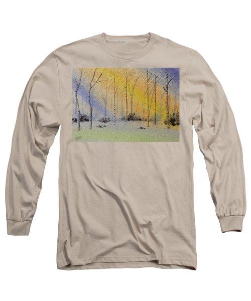 Birch In Blue Long Sleeve T-Shirt by Richard Faulkner