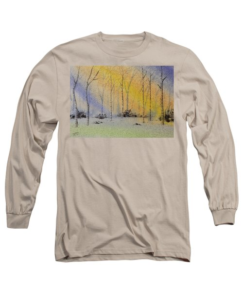 Birch In Blue Long Sleeve T-Shirt