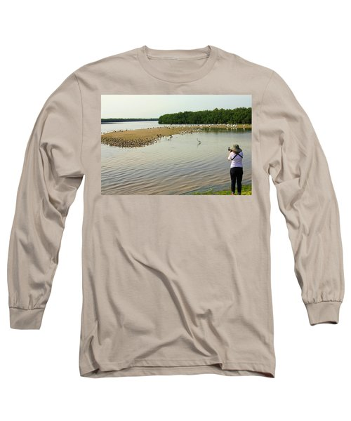 Long Sleeve T-Shirt featuring the photograph Bird Experience by Rosalie Scanlon