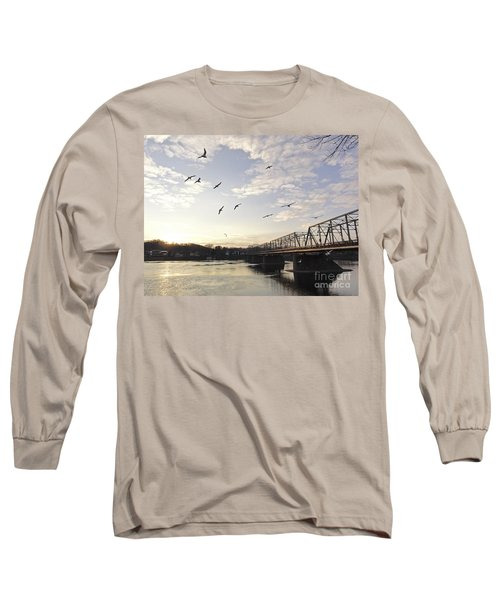 Birds And Bridges Long Sleeve T-Shirt