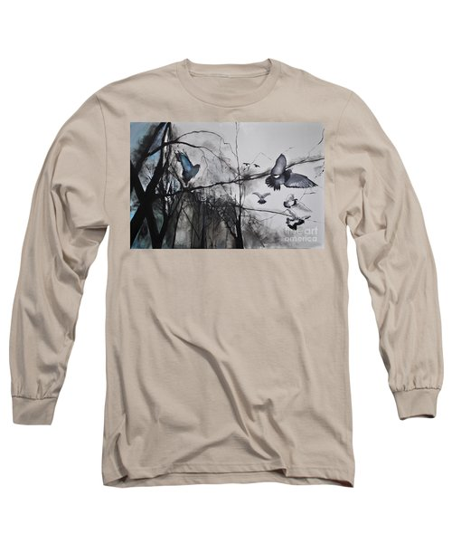 Long Sleeve T-Shirt featuring the photograph Birds by Maja Sokolowska
