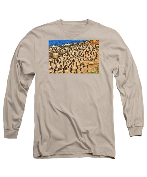 Long Sleeve T-Shirt featuring the photograph Birds Of A Feather Stick Together by Jim Carrell