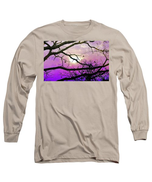 Birds Roosting For Night Long Sleeve T-Shirt
