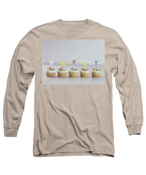 Birthday Cupcakes Long Sleeve T-Shirt