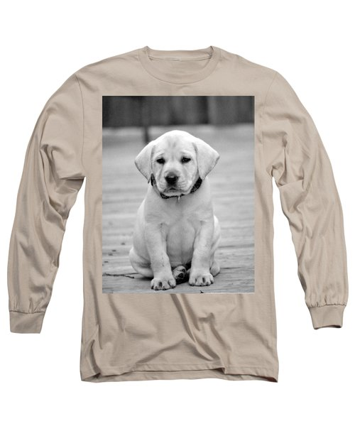 Black And White Puppy Long Sleeve T-Shirt