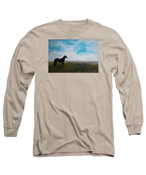 Black As Night In The Light Of Day Long Sleeve T-Shirt by Jean Walker
