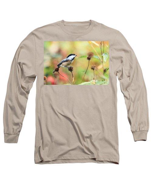 Black Capped Chickadee 1 Long Sleeve T-Shirt
