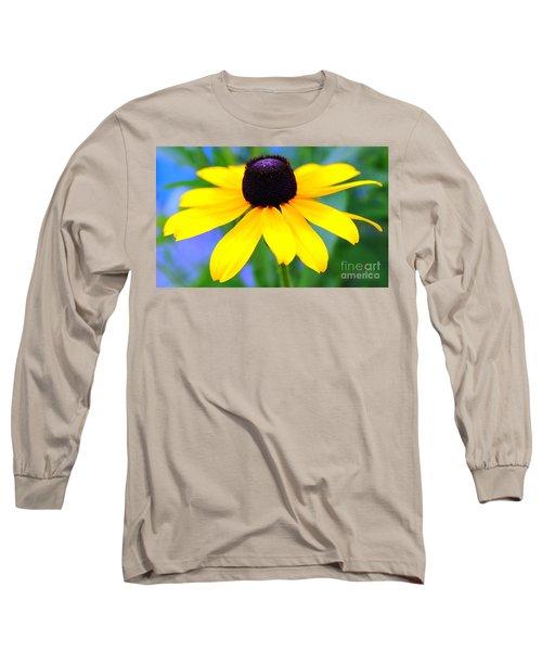 Long Sleeve T-Shirt featuring the photograph Black Eyed Susan by Judy Palkimas