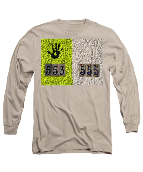 Black Hand Long Sleeve T-Shirt by Joe Kozlowski