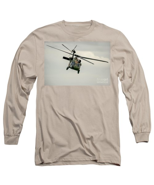 Black Hawk Swoops Long Sleeve T-Shirt by Ray Warren