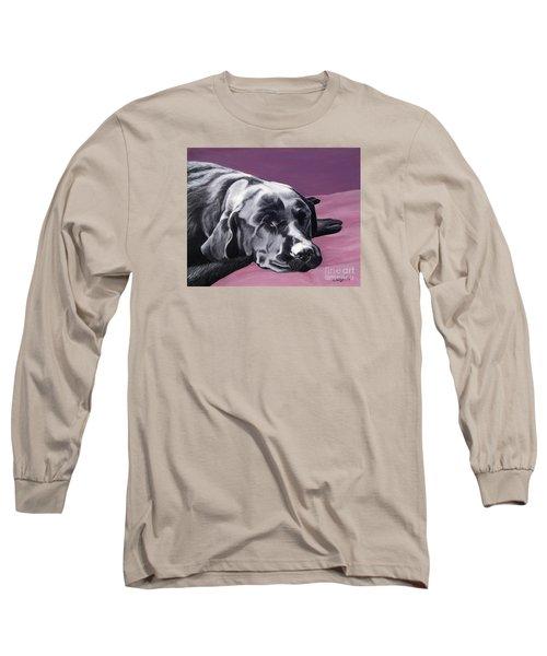 Black Labrador Beauty Sleep Long Sleeve T-Shirt