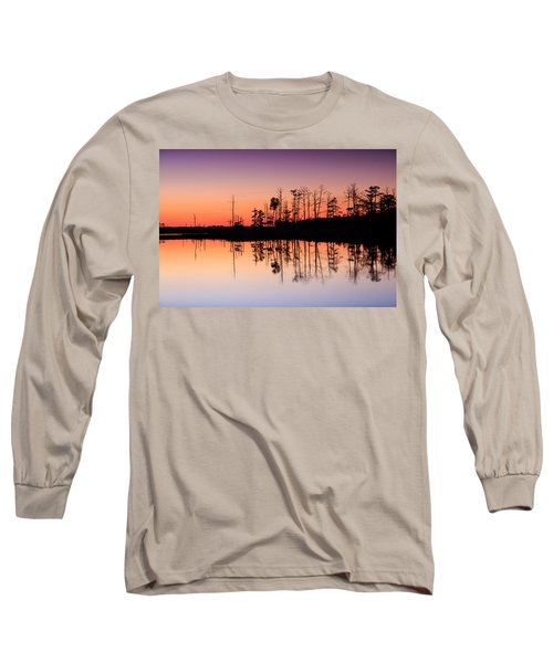Long Sleeve T-Shirt featuring the photograph Blackwater Reflections by Jennifer Casey