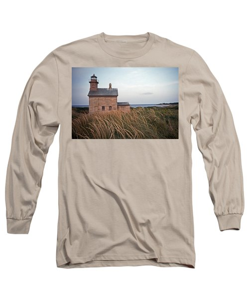 Block Island North West Lighthouse Long Sleeve T-Shirt by Skip Willits