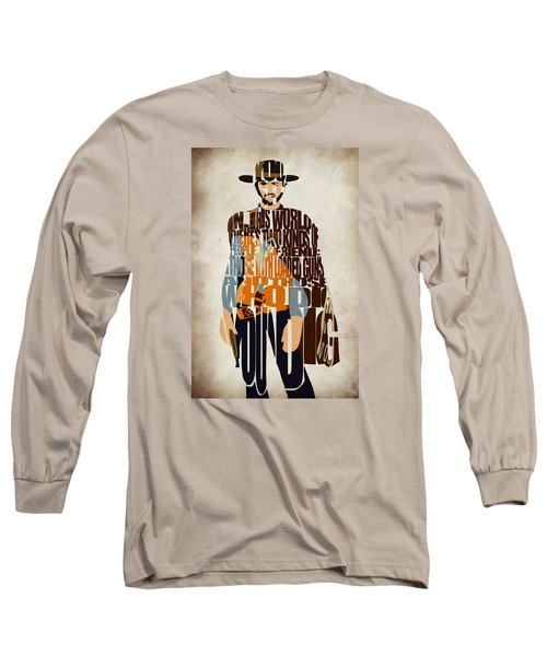Blondie Poster From The Good The Bad And The Ugly Long Sleeve T-Shirt by Ayse Deniz