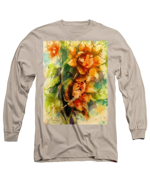 Blooming Flowers - Batik Long Sleeve T-Shirt