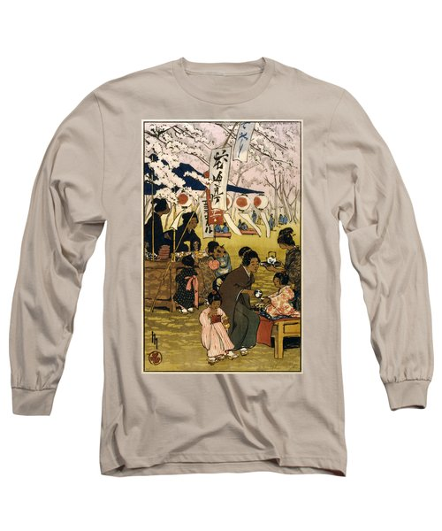 Blossom Time In Tokyo Long Sleeve T-Shirt
