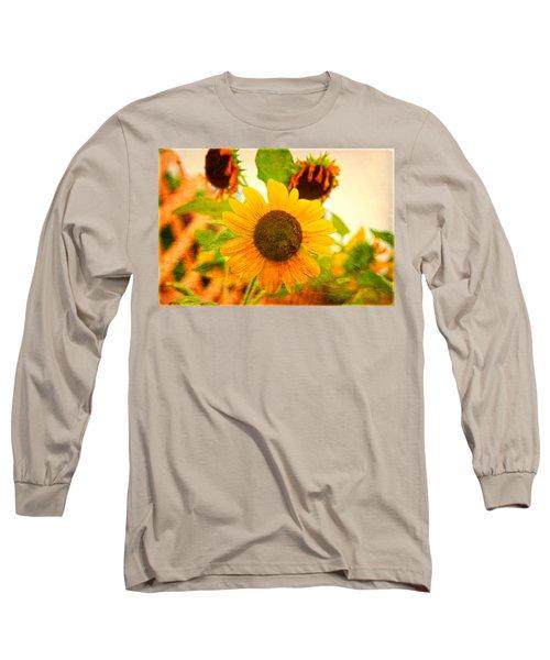 Blossoming Sunflower Beauty Long Sleeve T-Shirt