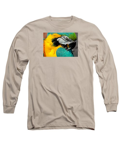 Blue And Yellow Macaw  Long Sleeve T-Shirt
