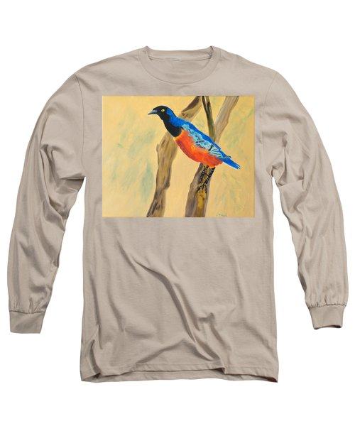 Hawaiian Blues Long Sleeve T-Shirt by Meryl Goudey
