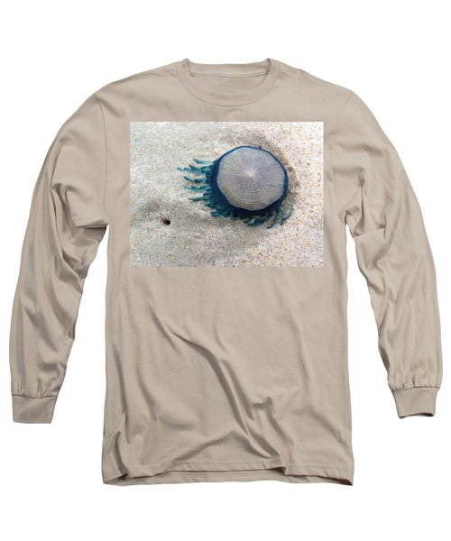 Blue Button #2 Long Sleeve T-Shirt by Paul Rebmann
