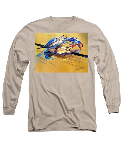 Blue Crabbie  Long Sleeve T-Shirt