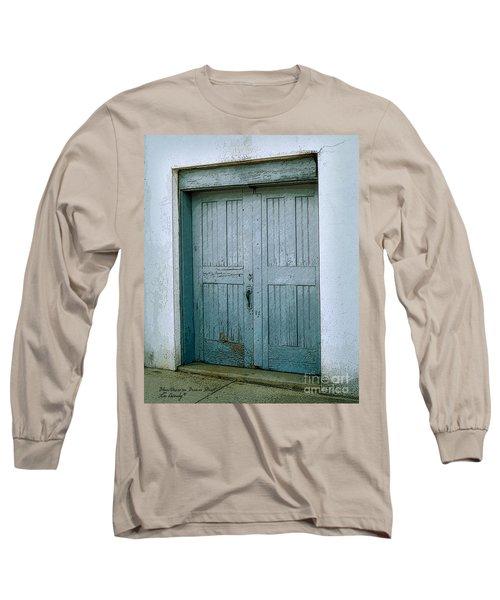 Blue Doors On Brewer Street Long Sleeve T-Shirt
