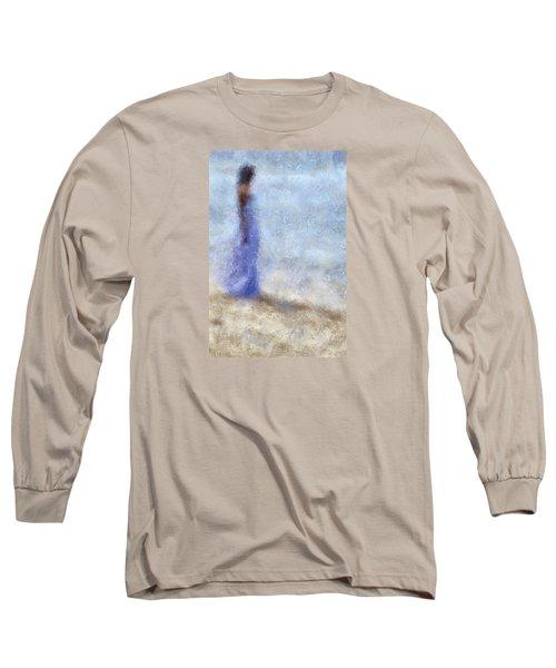 Blue Dream. Impressionism Long Sleeve T-Shirt by Jenny Rainbow