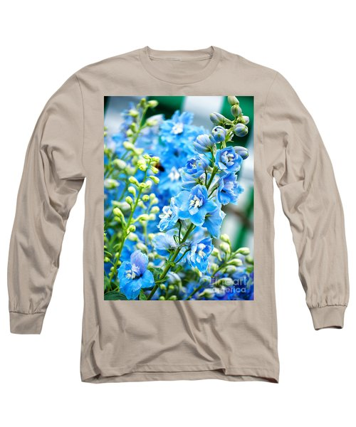 Blue Flowers Long Sleeve T-Shirt by Antony McAulay