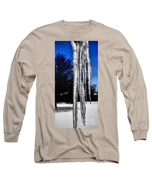 Long Sleeve T-Shirt featuring the photograph Blue Ice by Luther Fine Art