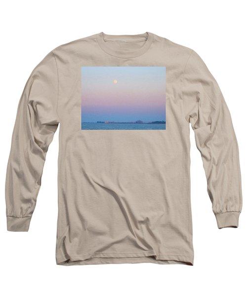 Blue Moon Eve Long Sleeve T-Shirt by Deborah Lacoste