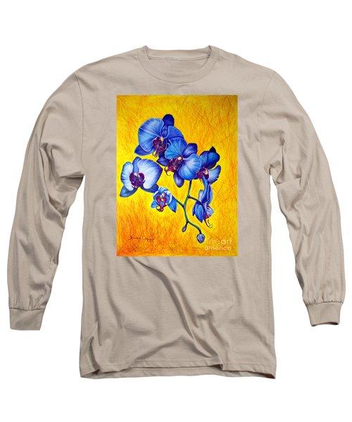 Blue Orchids 1 Long Sleeve T-Shirt