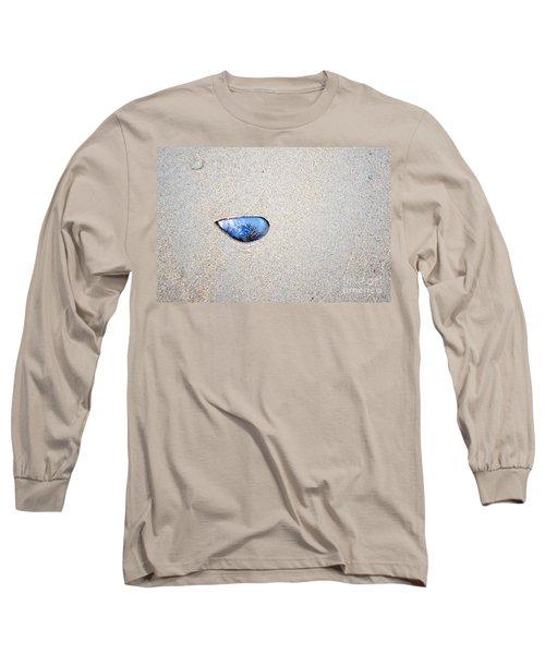 Long Sleeve T-Shirt featuring the photograph Blue Shell by Randi Grace Nilsberg