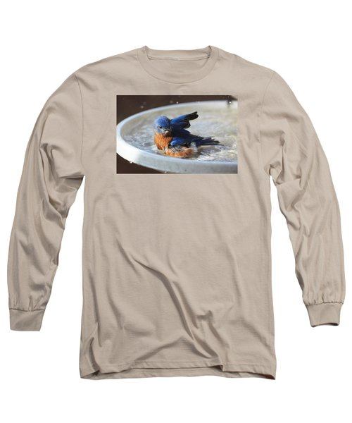 Bluebird Bath Long Sleeve T-Shirt