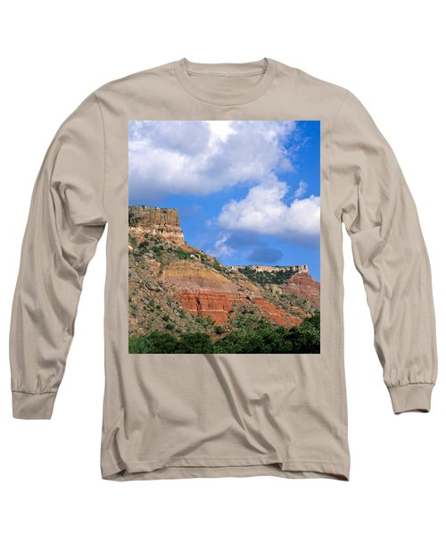 Bluffs In The Glass Mountains Long Sleeve T-Shirt