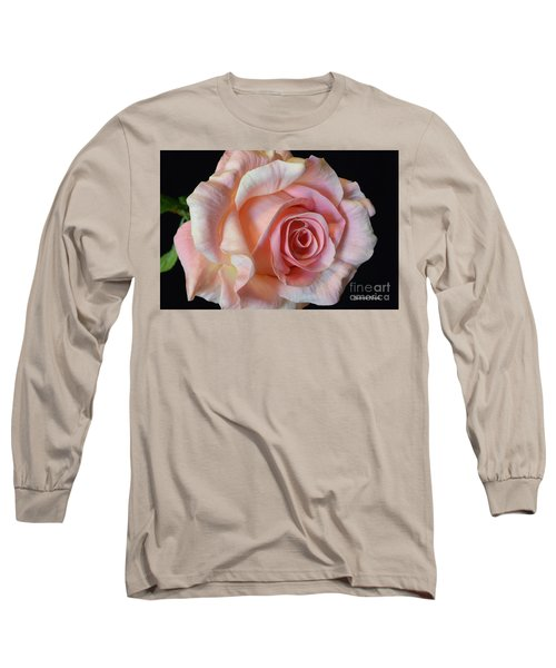 Long Sleeve T-Shirt featuring the photograph Blushing Pink Rose by Jeannie Rhode
