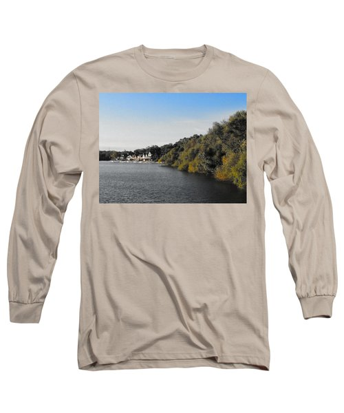 Boathouse II Long Sleeve T-Shirt by Photographic Arts And Design Studio