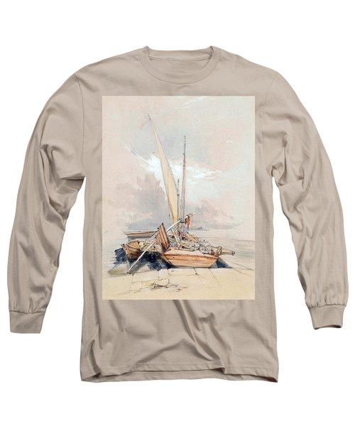 Boats At Quayside Lake Geneva Long Sleeve T-Shirt
