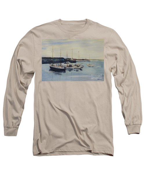 Boats In A Harbour Long Sleeve T-Shirt