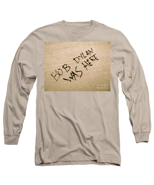 Bob Dylan Graffiti Long Sleeve T-Shirt by Jacqueline Athmann