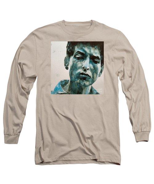 Bob Dylan Long Sleeve T-Shirt by Paul Lovering